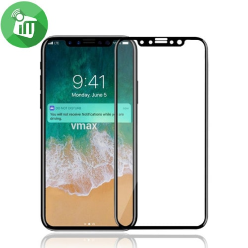 new concept d0b52 5bc8c Full Cover 5D Tempered Glass Screen Protector For IPhone X - Black