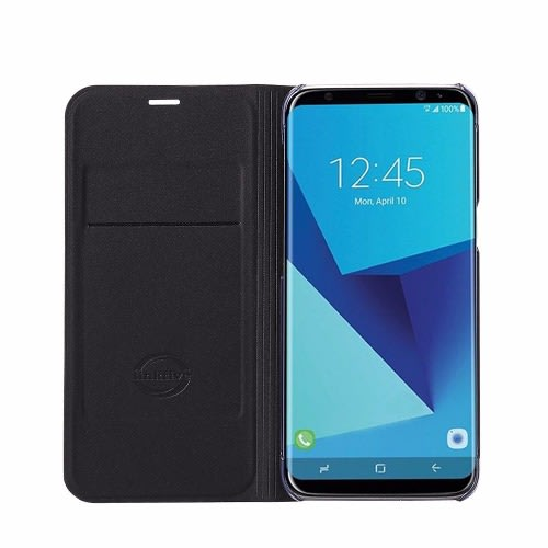 competitive price 25af6 71312 Full Flip Leather Case with Card Slot for Samsung Galaxy S8 Plus - Black