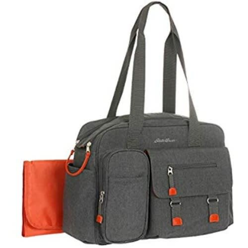 Grey And Orange Duffle Diaper Bag/baby Or Toddler Travel Bag