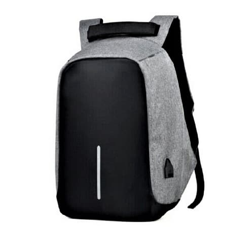 Anti-theft Multifunction Outdoor Bag Laptop Travel Usb Interface Backpack For Men - Gray