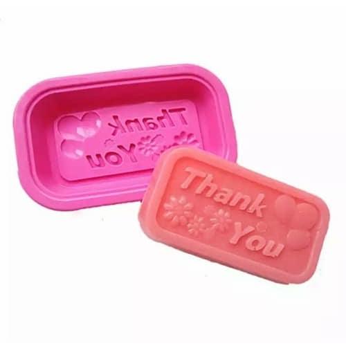 Thank You Silicone Soap Mold - 10 Pieces