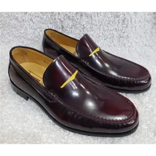 a174c57ca48c1 Men's Smooth Italian Oxblood Loafer With Horse-bit + A Pair Of Free Sock