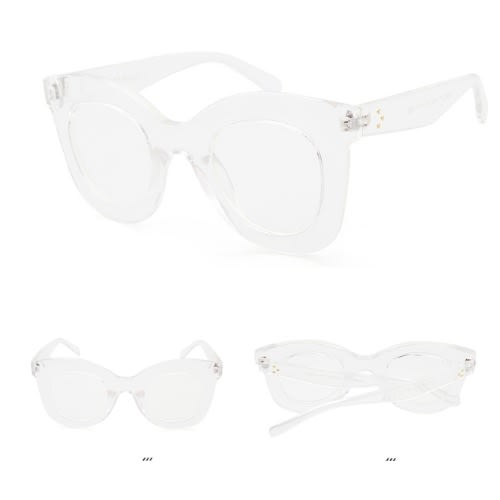 5f6abe88a3c Chic Thick Frame Square Glasses- Crys.