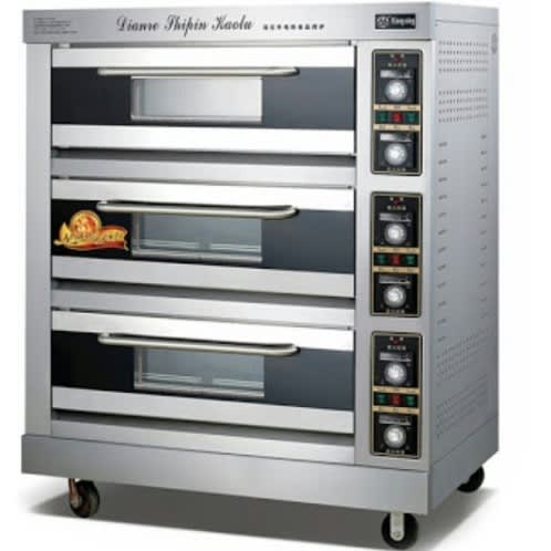 Universal Chef Commercial Electric Oven 3 Layer 9 Trays Industrial Bread 1200w