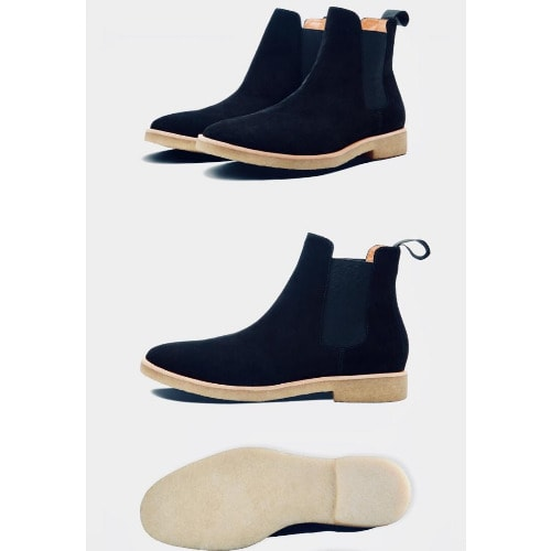 Hrm Casual Suede Chelsea Boot + Free Happy Socks