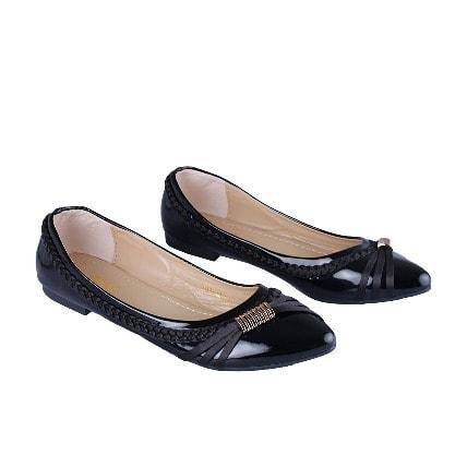 Aimeigao Ladies' Patent Flat Shoe