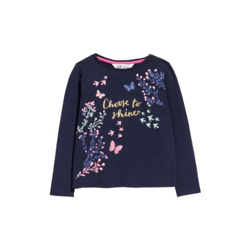 on sale 1f52e 4a270 Girls' Long Sleeve Print Tee - Blue