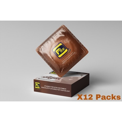 Brown Sugar Chocolate Flavored Condom - 12 Packs Of 36 Pieces.