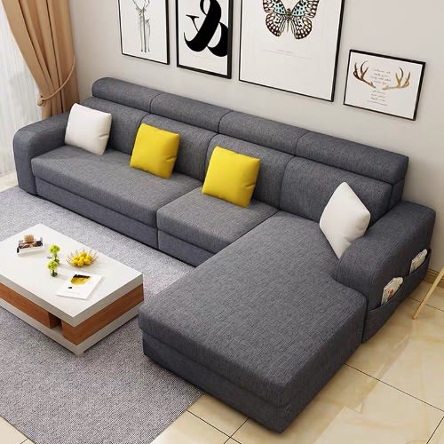 Mak Living Room Furniture Dorce L Shaped Sofa Dark Grey Konga Online Shopping