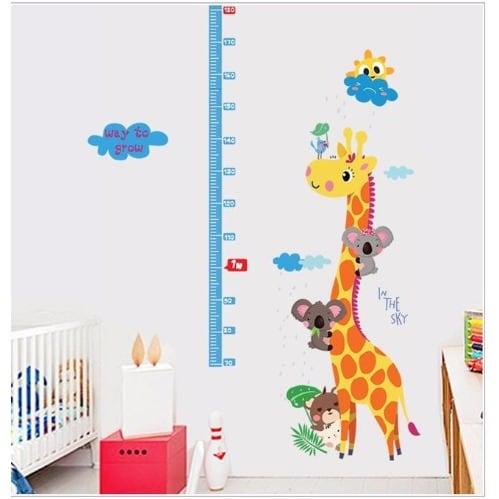 Excellent Giraffe Home Decor Wall Art Stickers Kids Height Measurement Chart Home Interior And Landscaping Oversignezvosmurscom