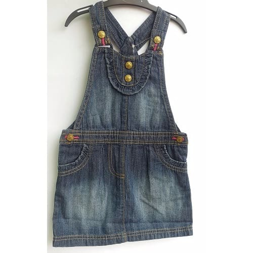10d2a8387ba George Girl s Jean Pinafore Gown