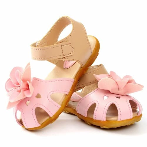 79a83965f Girl s Sandal With Flower - Light Pink