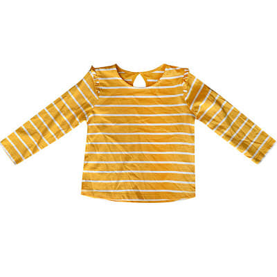 66df7caff5b57 Girls 2-pack Frill Long Sleeve T-shirt - Yellow