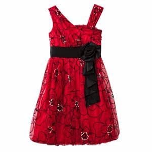 /G/i/Girls-Floral-Flocked-Bubble-Dress---Red-6051465.jpg