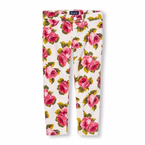 f5aeae882f697 The Childrens Place Girls Flowery Jeggings - Paris Rose | Konga ...