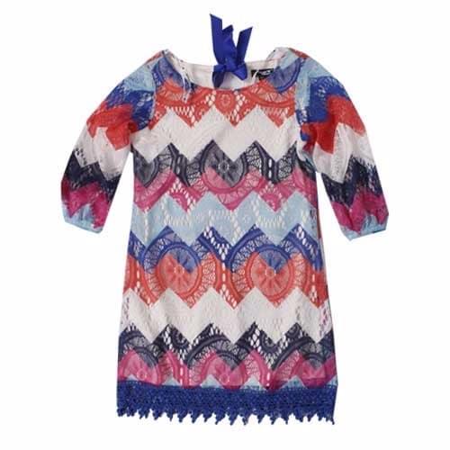 5b1a73e748041 Girls Lacy Dress - Multicolour