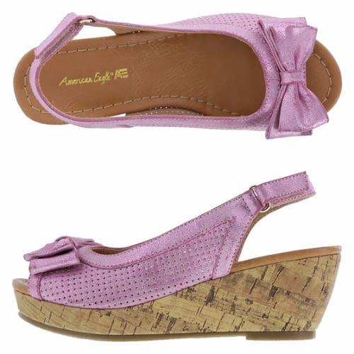 e7957699da2 Girls' Lexi Perforated Wedge Sandals - Pink