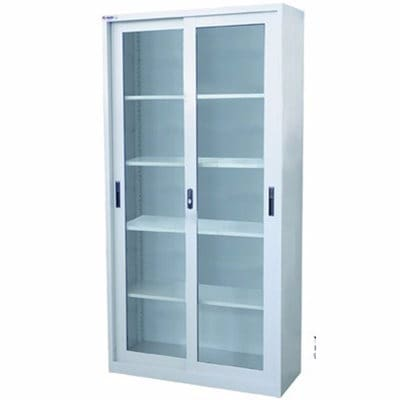 Glass File Cabinet Double Glass Door
