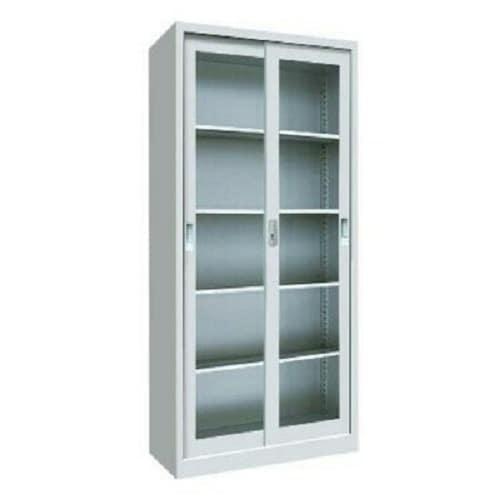 reputable site d4d1f e9895 Glass Sliding Door Metal Book Shelf