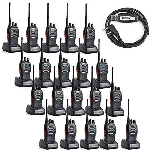 2 Way Radio Walkie Talkie With Programming Cable - 20 Pcs