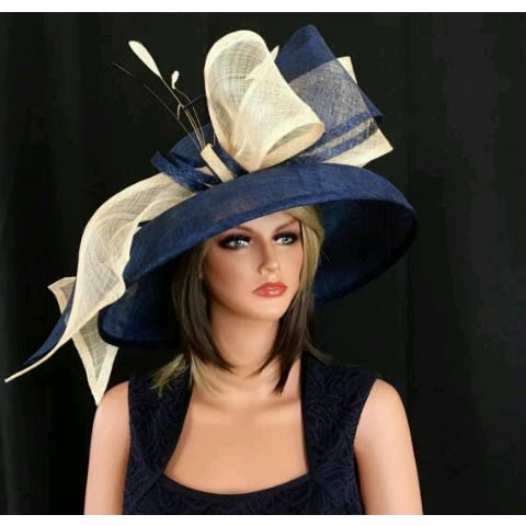 0edbb43e Women's Sinamay Hat - Navy Blue & Champagne Gold | Konga Online Shopping