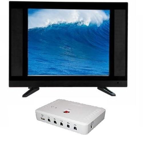 "24"" LED AC DC TV + Solar DC UPS"
