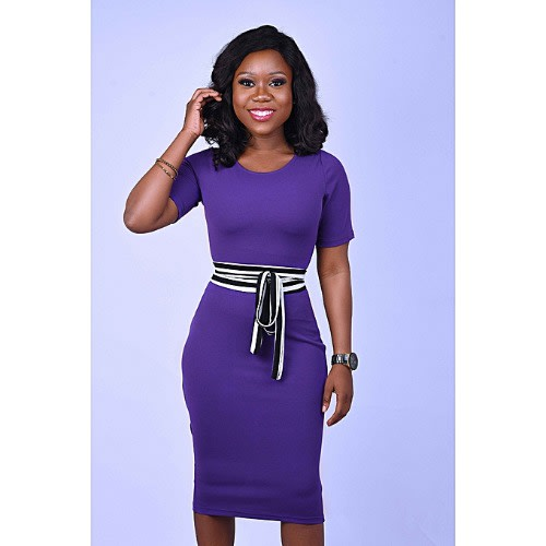 Purple Body Con Dress