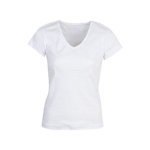 716d4e8000fd Women's Plain V-neck T-Shirt - White | Konga Online Shopping