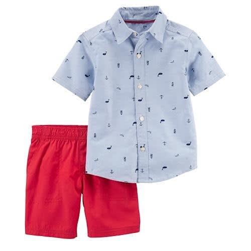 fc79733e0 Carter's Baby Boy Chambray Print Shirt & Pant Set | Konga Online ...