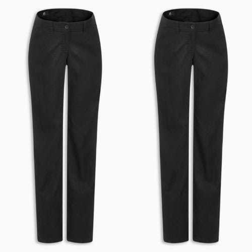 Adjustable Waist Black Maternity Trousers
