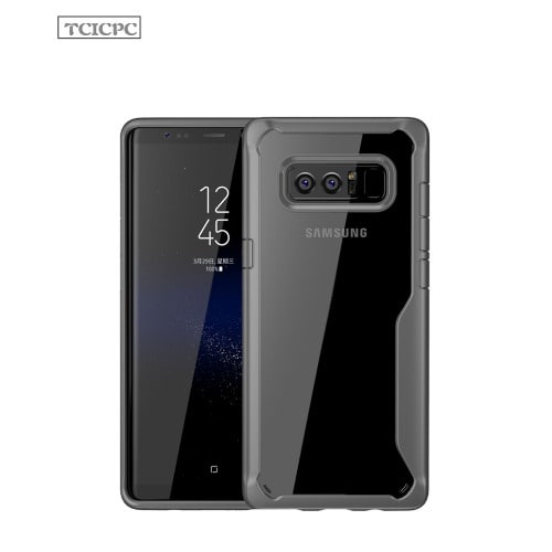 Samsung Galaxy Note 8 Back Transparent Case  Black