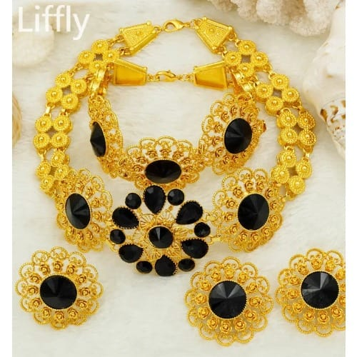 Dubai Gold Bridal Jewelry Set