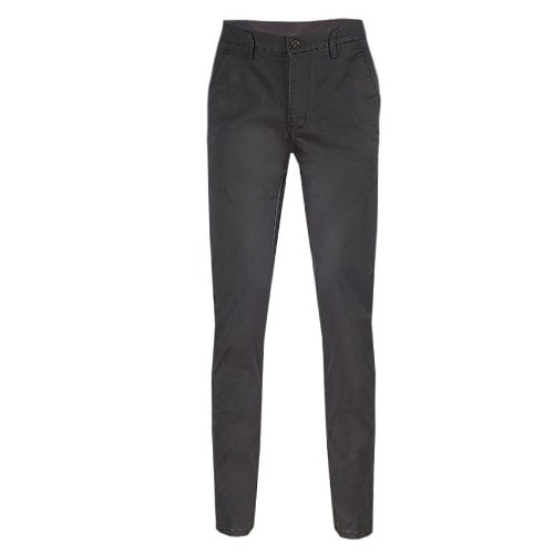 Classy Men S Office Plain Chinos Trouser Dark Grey Mct 4670