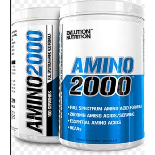 Evlution Nutrition Amino 2000 ,480 Tablets Full Soectrum Amino 160 Servings.