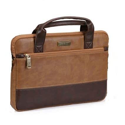 c7937b74e5b9 Laptop Bag, 13 Inch Pu Leather Briefcase Brown
