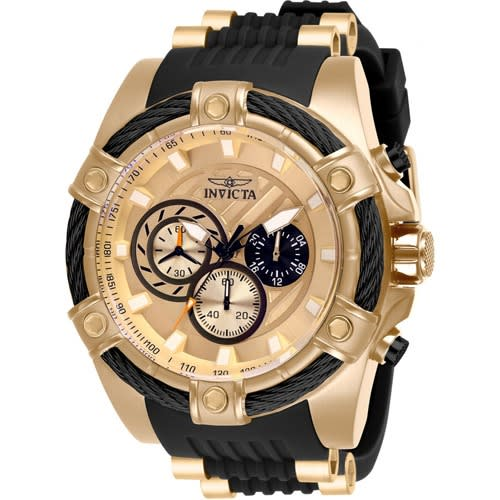 28014 Men's Bolt Quartz Chronograph Rose Gold, Black Dial Xl Watch