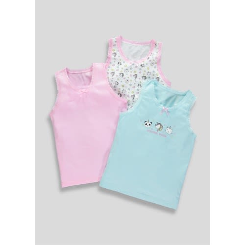 cbe3e49b8b28c Matalan Girls 3 Pack Unicorn Vests | Konga Online Shopping