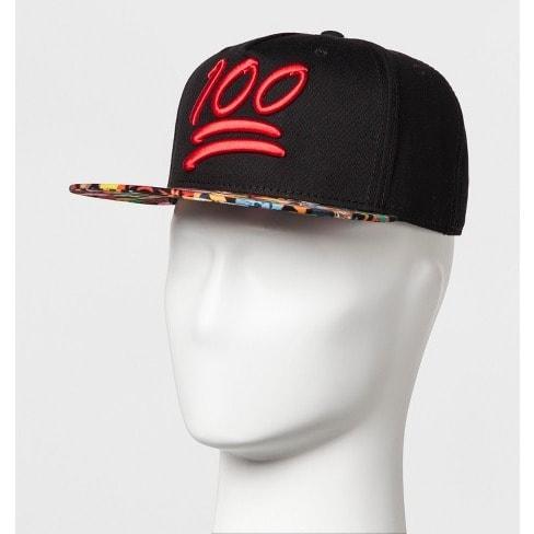 412493b524d Men s Emoji 100 Baseball Cap - Black .