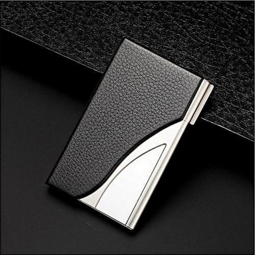 the best attitude 1a786 bebe0 Executive Stainless Steel Business Card Holder Name & Credit Card Case  Wallet - Silver
