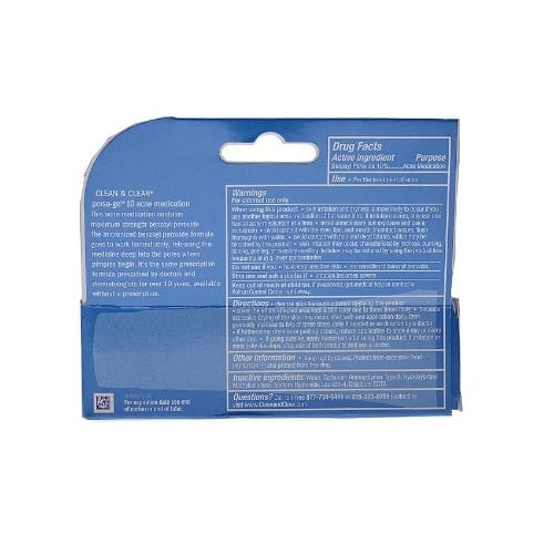 Clean & Clear Persa-gel 10 Benzoyl Peroxide Acne Medication & Spot  Treatment -1 Oz