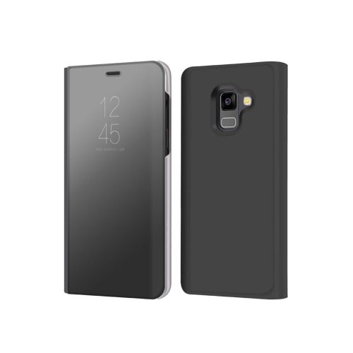 new product 596fe 200a4 Clear View Flip Case for Samsung Galaxy A8 Plus - Black | Konga ...