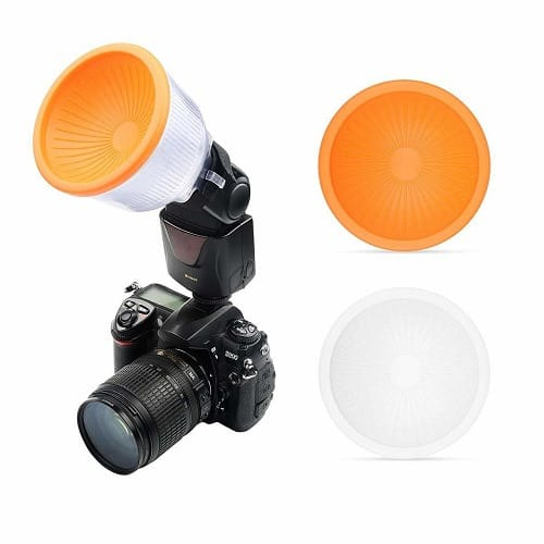 Cloud Lambency Flash Diffuser + 2 Pieces Covers White, & Orange Set Flash  Speedlite