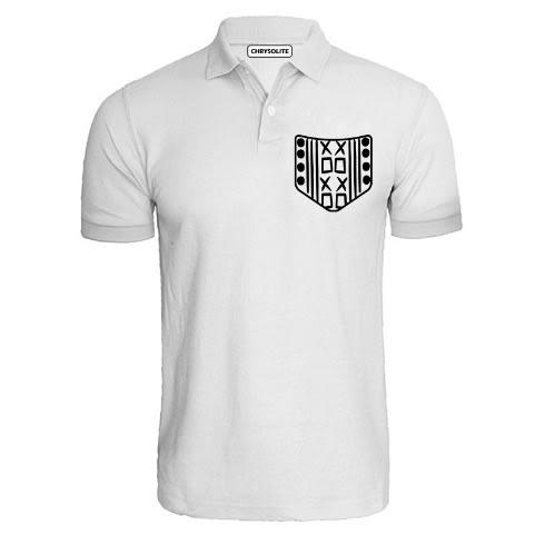 Cool Pocket Pattern Polo T-shirt - White