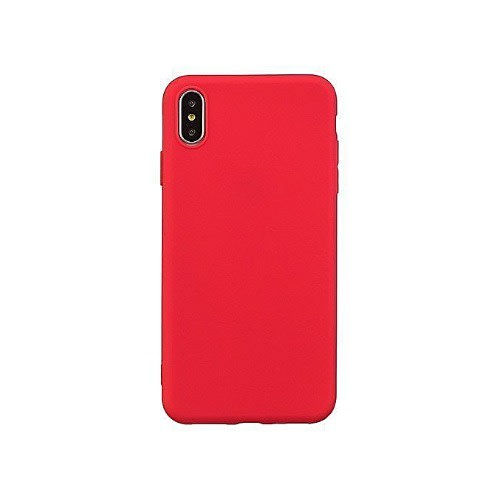 Silicone Pouch Back Case For iPhone XR , Red