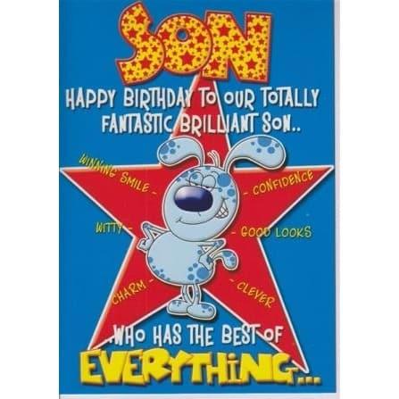 H A Happy Birthday Son Greeting Card 6395134