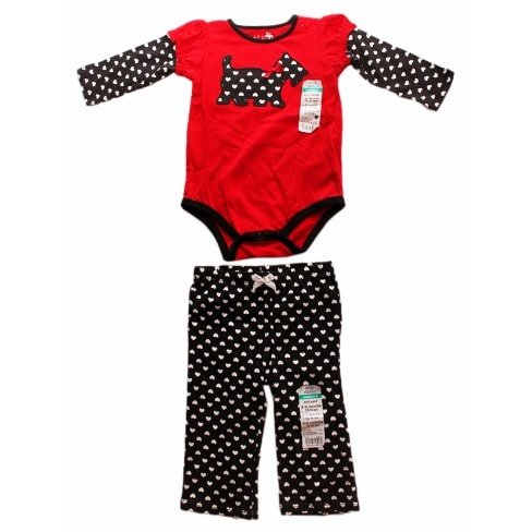 46e6eff0f Okie Dokie Heart Print Top and Pant-Red and Black | Konga Online ...