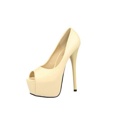 90461c450 High Heel Cream Open Toe Women's Shoe | Konga Online Shopping