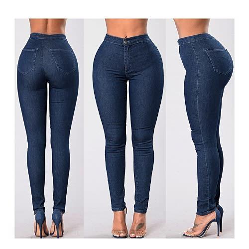 0218e920 Fashion By LV Skinny Jeans High Waist Stretch Hole   Konga Online ...