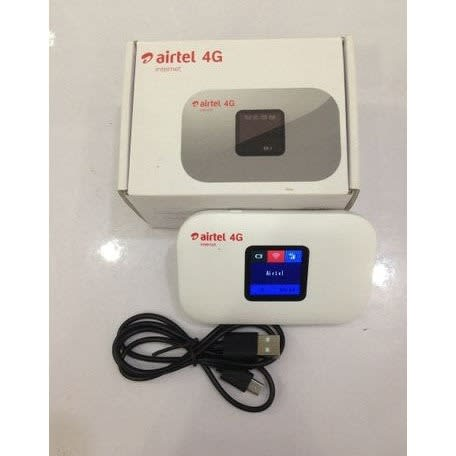 Airtel 4G Wifi Router With 25GB With Free Browsing Sim - White.