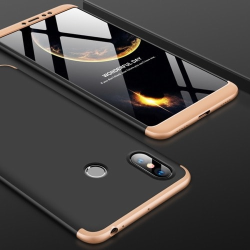 newest d4c99 f0828 360 Degrees Splicing Full Coverage Back Case For Xiaomi Mi Max 3 - Gold